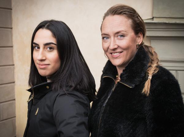 Kubra Ayata, fd KTH-student och Elise Grosse, White