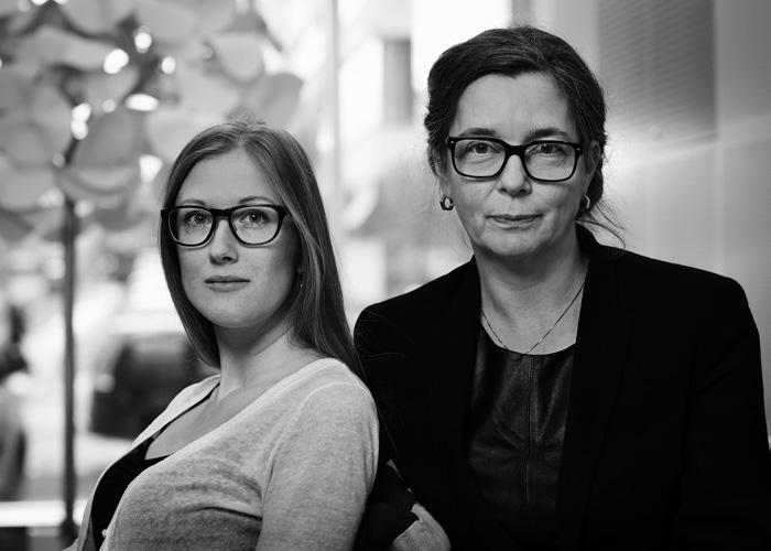 Anna Teglund och Louise von Bahr ansvarig arkitekt. Teamet på Equator Stockholm bestod även av bl a Raúl Valencia och Ingrid Nordstrand. Foto: Hans Alm